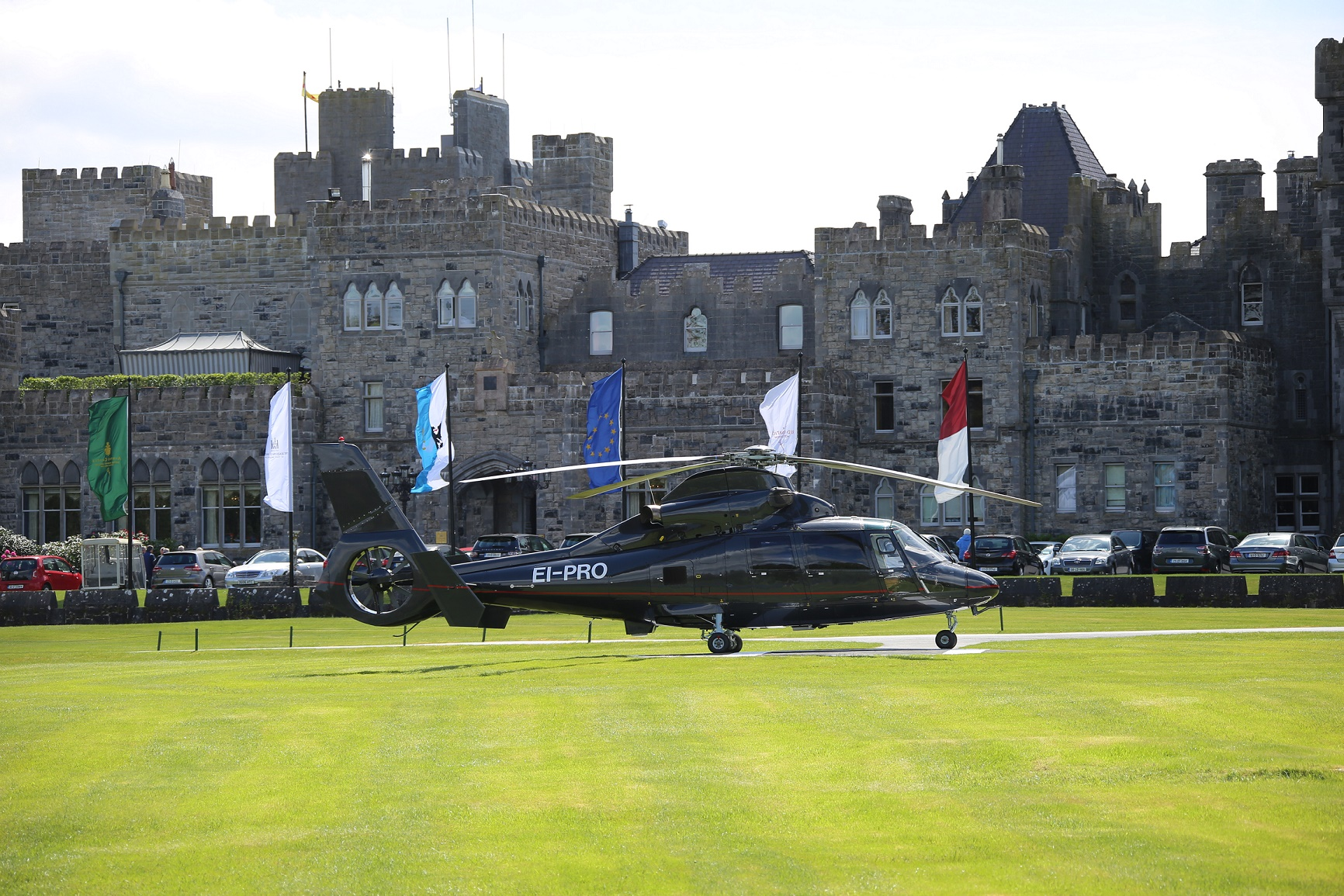 Ashford Castle Hotel private charter as365 dauphin