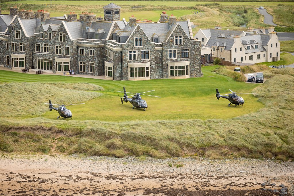 helicopter ride, golf, golf links, wild Atlantic way