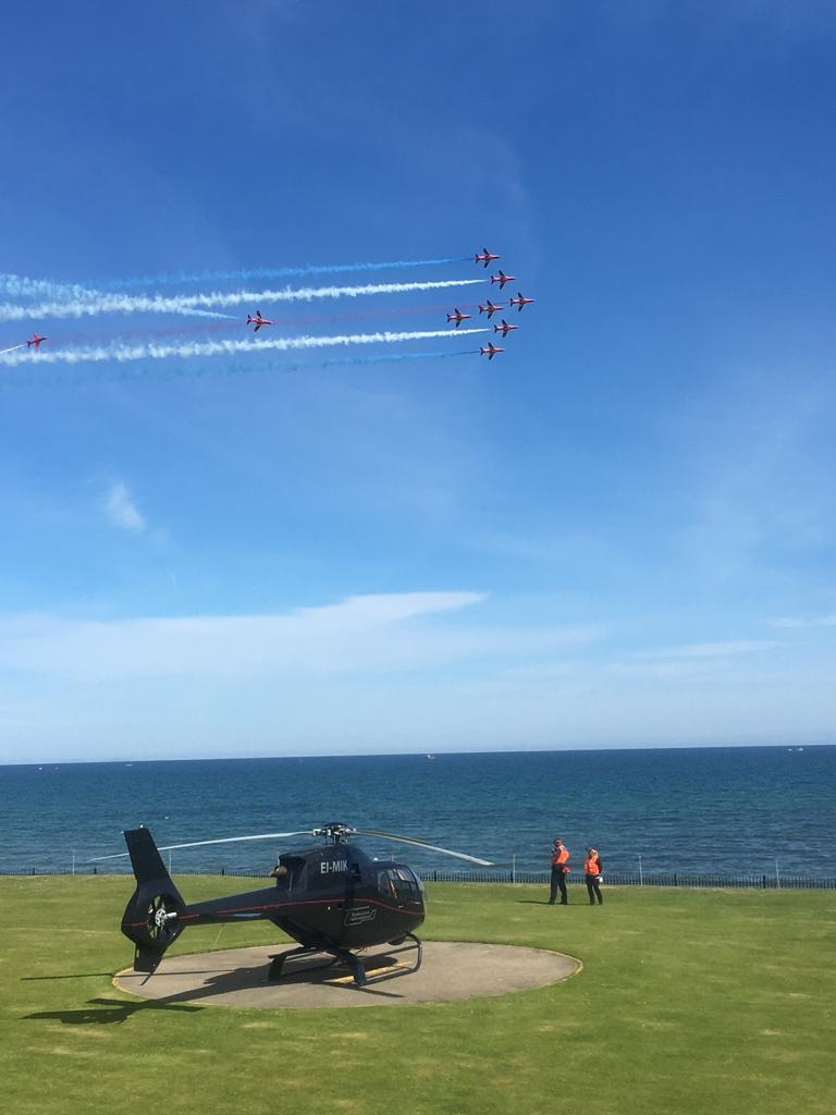 Newcastle Airshow onsite helicopter assistance