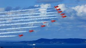 Red Arrows Bray Airshow helicopter scenic flights